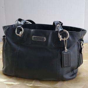 Coach Leather Shoulder Handbag.